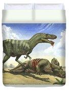 A Gorgosaurus Libratus Stands Duvet Cover