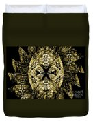 A Gothic Guise Of Gold Duvet Cover