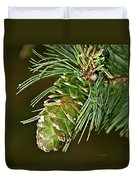 A Growing Pine Cone Duvet Cover