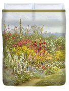 A Herbaceous Border Duvet Cover
