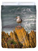 A Herring Gull, Colonsay, Scotland Duvet Cover