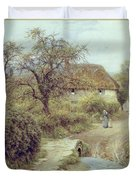A Hill Farm Symondsbury Dorset Duvet Cover by Helen Allingham
