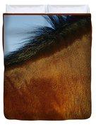 A Horses Neck And Mane, Seen So Close Duvet Cover