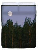 A Huge Moon, With Features Clearly Duvet Cover