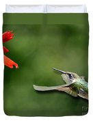 A Hummingbird With Dimension Duvet Cover