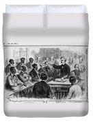 A Jury Of Whites And Blacks Duvet Cover