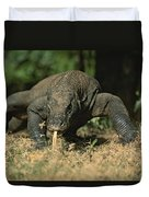 A Komodo Dragon Sensing The Air Duvet Cover
