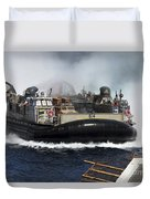 A Landing Craft Air Cushion Transits Duvet Cover