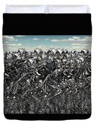 A Large Gathering Of Robots Duvet Cover