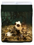 A Large Nudibranch Feeds On A Sponge Duvet Cover