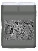 A Library Of Petroglyphs - Atlatl Rock Duvet Cover