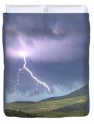 A Lightning Bolt From A Thunderstorm Duvet Cover