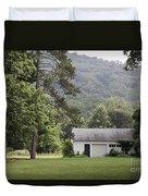 A Little White House Duvet Cover