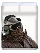 A Loadmaster Protects His Head Duvet Cover