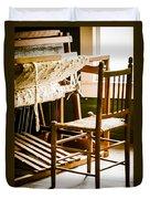 A Loom For Grandma Duvet Cover by Carolyn Marshall