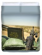 A M240b Medium Machine Gun Duvet Cover