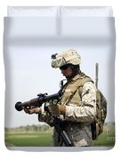 A Marine Looks At A Brand New Duvet Cover