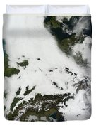 A Massive Cloudbank Sprawled Duvet Cover