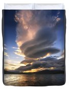 A Massive Stacked Lenticular Cloud Duvet Cover by Arild Heitmann