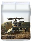 A Mi-35 Attack Helicopter At Kunduz Air Duvet Cover