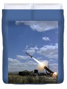 A Mim-104 Patriot Anti-aircraft Missile Duvet Cover