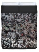 A Mob Of Red-winged Blackbirds Duvet Cover