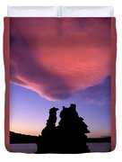 A Mono Lake Sunset Duvet Cover