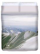 A Mountain Climber Hikes Duvet Cover