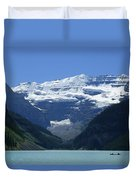 A Mountain Range With A Lake In The Duvet Cover