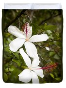 A Native Hawaiian Hibiscus Arnottianus Duvet Cover