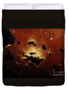 A Nebula Evaporates In The Far Distance Duvet Cover by Brian Christensen