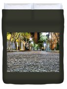 A Night On The Street Duvet Cover