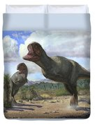 A Pair Of Pycnonemosaurus Nevesi Duvet Cover