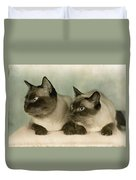 A Pair Of Siamese Cats Duvet Cover