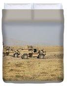 A Pair Of U.s. Army Cougar Mrap Duvet Cover