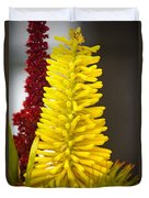 A Pair Of Yellow And Red Duvet Cover