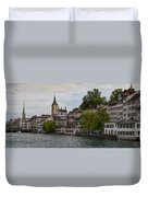 A Panorama View Of Zurich Duvet Cover