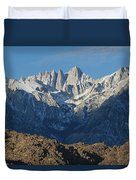 A Panoramic View Of Mount Whitney Duvet Cover