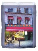 A Paris Bistro Duvet Cover