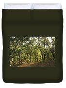 A Path Through A Sparse Forest And Trees Duvet Cover