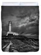 A Path To Enlightment Bw Duvet Cover