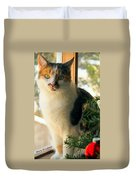A Pet And Christmas Duvet Cover