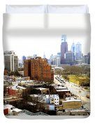 A Philadelphian View Two Duvet Cover