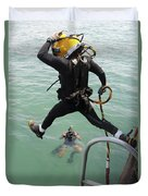 A Photographer Documents A Navy Diver Duvet Cover