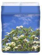 A Plumeria Caracasana Tree In Full Duvet Cover