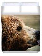 A Portrait Of A Captive Kodiak Brown Duvet Cover
