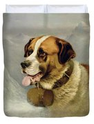 A Portrait Of A St. Bernard Duvet Cover
