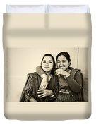 A Portrait Of Good Friends Duvet Cover