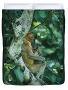 A Proboscis Monkey Duvet Cover