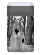 A Quiet Winter Day At The Graveyard Duvet Cover